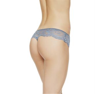 La Perla女士内裤BEGONIA系列新款列韦斯花边刺绣性感薄纱丁字裤